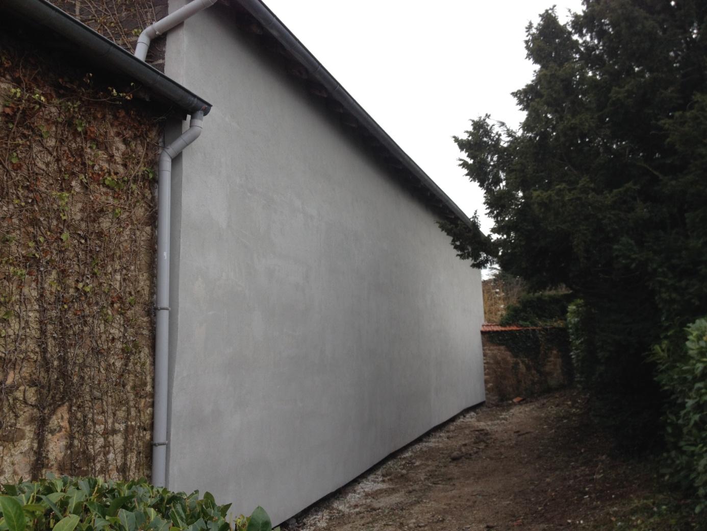Isolation par l'extérieur d'un mur de façade