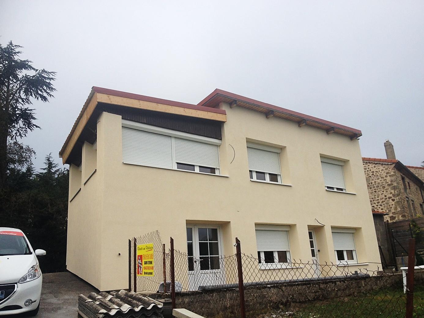 Isolation Extérieur par l'Extérieur (ITE) sur façade de maison