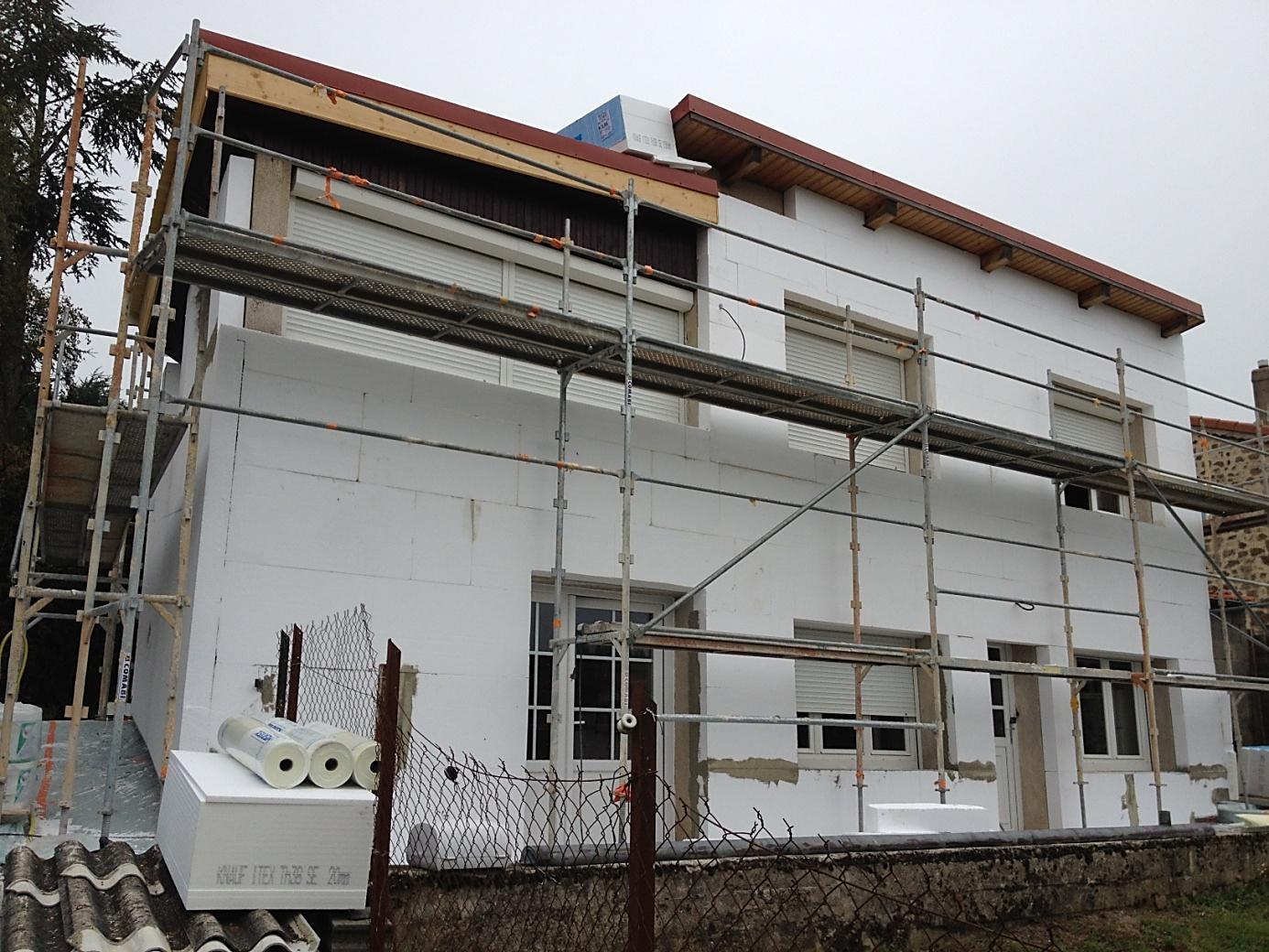 Travaux d'Isolation des murs extérieurs d'une maison
