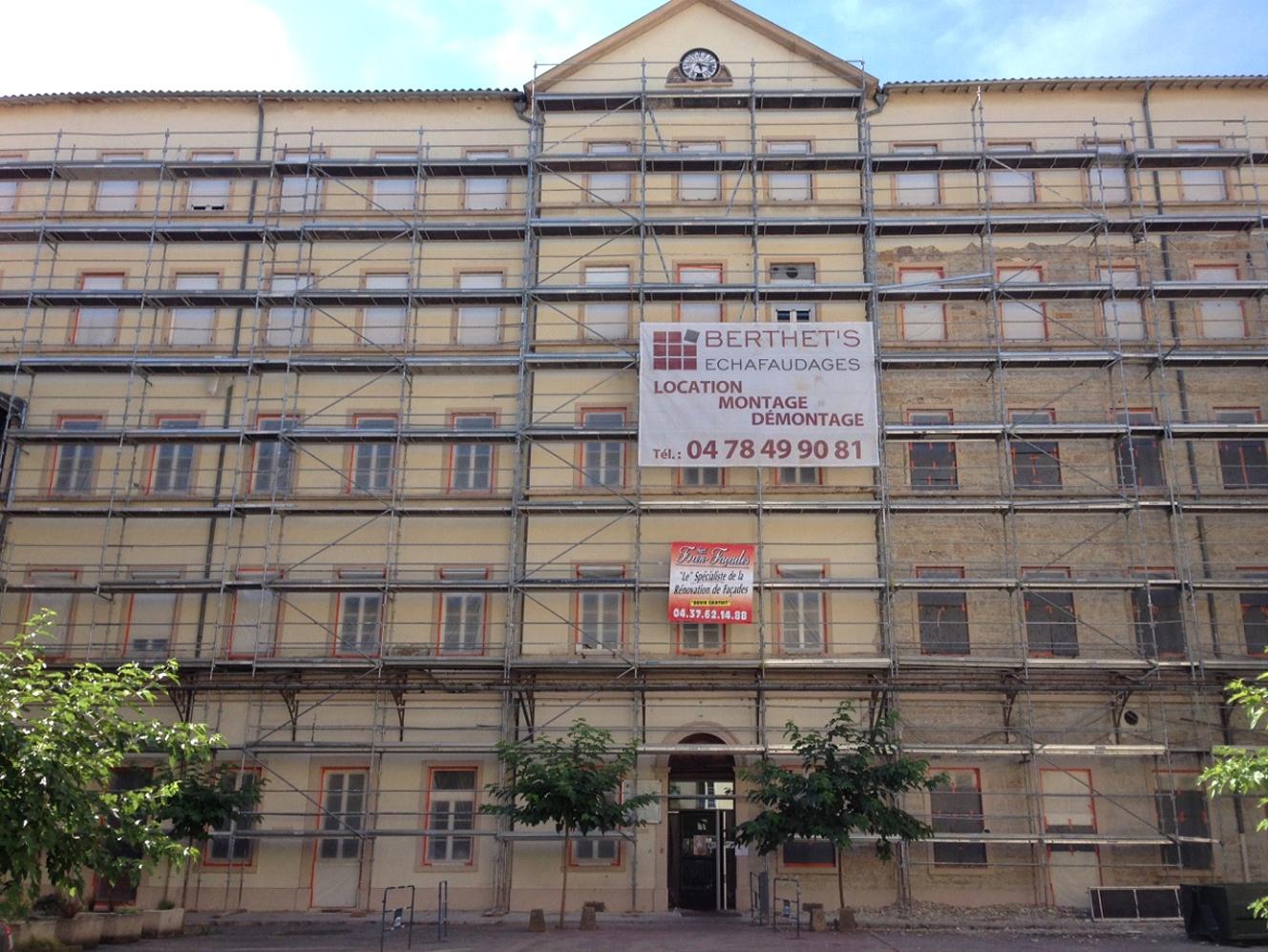 Travaux de rénovation de façades du lycée St Louis St Bruno